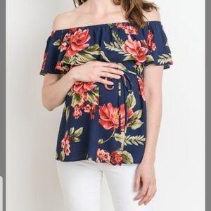 1️⃣day Sale! Hello Miz Maternity Floral Top